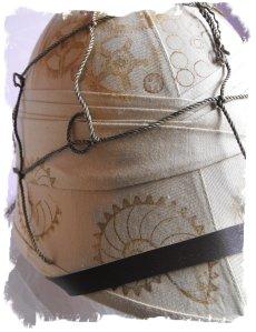 New decorative twist on a pith helmet.