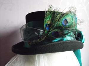 Peacock Gothic inspired hat.