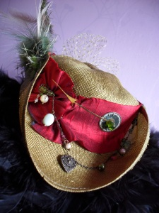 Silk and sassy Tricorn Steampunk pirate hat.