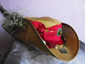 Bending time steampunk inspired Tricorn hat  £35