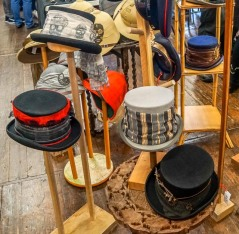 Some of our splendid Steampunk top hats at Hebden Bridge.