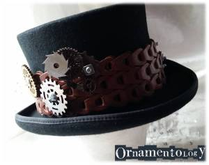 Nuts & Bolting Black Steampunk Top Hat £52 = p&p