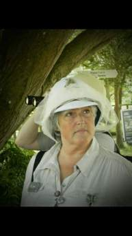 Brenda in her veiled