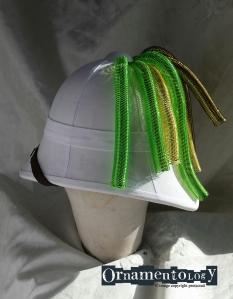 Side on Rave inspired Pith Helmet