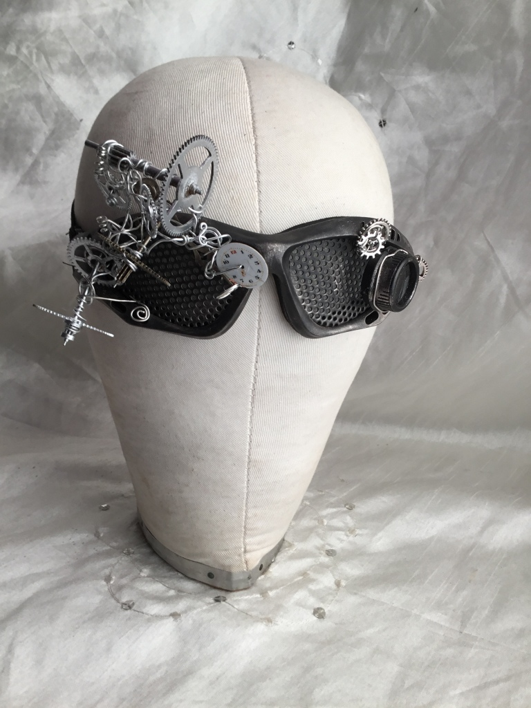 Adorned steampunk goggles